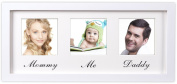 Family Photo Frame (Mommy Daddy Me Frame) - Elegant Wall Hanging Décor - Family Picture Frame Collages for Wall - Home Decoration - Fits Standard Size Photos