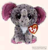 "New TY Beanie Boos SPECKS the Spreckled Elephant (Glitter Eyes) (Regular Size - 6 inch)Cute Plush Toys 6"" 15cm Ty Plush Animals Big Eyes Eyed Stuffed Animal Soft Toys for Kids Gifts ..."