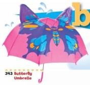 Kids Umbrella - Childrens 46cm Rainy Day Umbrella - Butterfly