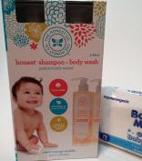The Honest Company, 2 in 1, Body Wash, Shampoo, Sweet Orange, Vanilla, 2 - 17 fl. oz, (500 mL) Bottles