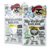 3 Step Black Sheet Mask - Vita Capsule, 10x28g30ml