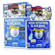 3 Step Black Sheet Mask - Aqua Refreshing, 10x25g25ml
