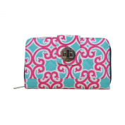 Quilted Geometric Themed Prints NGIL Quilted Twist Lock Wallets