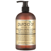 Pura D'or Argan Oil 470ml Premium Organic Anti-hair Loss Shampoo