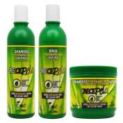 BOE Crece Pelo Fitoterapeutico Natural Shampoo and Rinse and Treatment Set