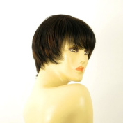 short wig for women 100% natural hair chocolate brown ref MARINA 1b30