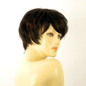 short wig for women 100% natural hair chocolate brown ref ALICE 1b30