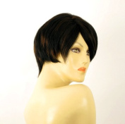 short wig for women 100% natural hair chocolate brown ref WITNEY 1b30