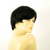 short wig for women 100% natural hair chocolate brown ref SHARONA 1b30