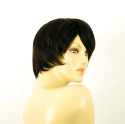 short wig for women 100% natural hair chocolate brown ref SOLENE 1b30