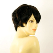 short wig for women 100% natural hair chocolate brown ref NAOMIE 1b30