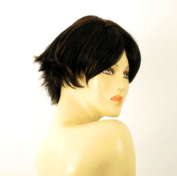 short wig for women 100% natural hair chocolate brown ref ESTHER 1b30