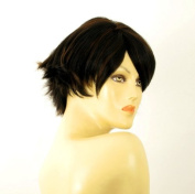 short wig for women 100% natural hair chocolate brown ref CLARA 1b30