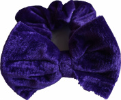Aadya® Velvet Hair Scrunchies With Bow Elastic Scrunchy Hair Bobbles Scrunchy