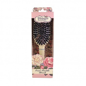 The Vintage Cosmetic Company Paddle Hair Brush, Soft Cream Oval