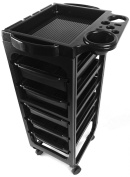 TekNoh Evolve - 6 Tier - EMO Salon Rolling Storage Trolley (with Free Tint Bowl)- Hairdressers Hairdressing Spa Hair Stylist Beauty Barber Cart Drawers Roller