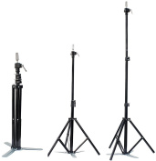 Hair Salon Adjustable Tripod Stand (Black) - Cosmetology Mannequin Training Head Holder for Hairdressers Trainees
