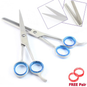 [TIME. Professional Scissors - Super Cut Hairdressing Set ,Thinning Scissors, Barber Saloon Hair Cutting and Thinning Scissors/Shears 17cm Plus Free PVC Scissors Pouch