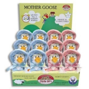 MOTHER GOOSE Plush Singing Toy ~ Adorable 15cm Mother Goose Singing BLUE Squeezer ~ Recites 5 Nursery Rhymes ~ Adorable Keepsake BABY Birthday Holiday Christmas Gift ~ New