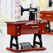 WXD Classic creative model sewing machine plastic music box music box couples holiday gifts