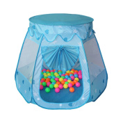 Santfe Children Play Tent Indoor and Outdoor Easy Folding Ball Pit Play House Baby Beach Tent with Tote Bag Ocean Ball Tent for Kids