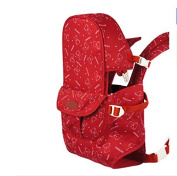 Cotton multifunction shoulders the baby carrier backpack,red-B