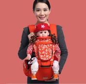 MultifunctionalBaby Sling Lightweight with Lumbar Support, Front Facing Comfort Positions,Orange