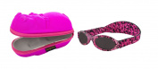 Baby Gift pack Sunglasses case Pink Hippopotamus and Babybanz Pink Tortoiseshell Sunglasses 0-2 years