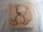 Natural Beige Teddy Bear Patterned Baby / Child Photo Album - Holds 80 15cm x 10cm Prints