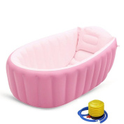 GAXmi Baby Kids 0 to 3 Years Portable Inflatable Bathing Tub with Pump