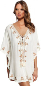 Bestime Womens Premier Embroidered Coverup Tunic One Size