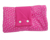 Dea-concept Fuchsia Cotton Terry Folding Baby Changing Mat White