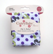 CuteyBaby Zip it Baby Zipper Dry Bag, Floral, Small