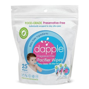 Dapple Pacifier Wipes Food Grade, Fragrance Free, 25 Count