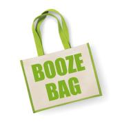 Large Jute Bag Booze Bag Green Bag Mothers Day New Mum Birthday Christmas Present