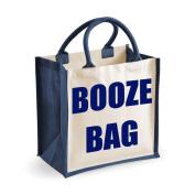 Medium Jute Bag Booze Bag Navy Blue Bag Mothers Day New Mum Birthday Christmas Present