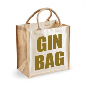 Medium Jute Bag Gin Bag Natural Bag Gold Text Mothers Day New Mum Birthday Christmas Present