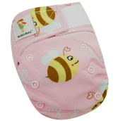 "Kawaii Baby Newborn Reusable Cloth Nappy Pure & Natural 2.7-10kg. With 2 Microfiber Inserts "" Buzzy Bee """