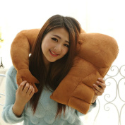 Tinksky Boyfriend Pillow Muscle Arm Snuggle Pillow Bed Rest Cushion Brown