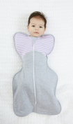 Love To Dream Swaddle Up Warm 2.5 tog Baby Swaddle Blanket Lilac Stripe - Large 18.5-24lbs