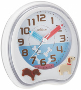 Kids Alarm Clock Dogs White - Atlanta 1719-0
