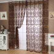 Ouneed Fashion European Classical Style Tulle Window Screens Balcony Curtain Panel Sheer Scarfs