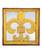Eye-Catching Wall Frame Wood Yellow Polished Vintage By Rajrang