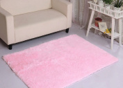 Yontree Anti-skid Living Room Soft Carpets Floor Mat Shaggy Area Rug Pink