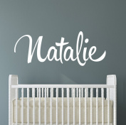 Name Wall Decal Nursery Customised Girl Decor Bedroom Initial Lettering