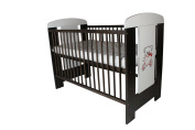 Baby Cot with Teething Rails & Mattress 120 x 60cm Wenge