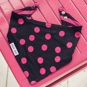 Blade and Rose Hot Pink and Black Dribble Bib