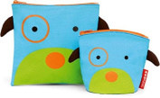 Skip Hop Zoo Reusable Sandwich & Snack Bag Set - Dog
