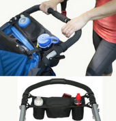 Buggy Organiser,Buggy Buddy Baby Stroller Pushchairs and Strollers Organiser Pram Storage Bags Nappy Bag Back Seat Car Organiser with Bottle Cup Drinks Food Holders Organiser for Travelling