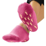Terry Gel Lined Exfoliating Plush Booties
